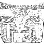 Pazırık kurganından bir bölümünü gösteren temsili bir resim
