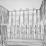 Duvar süslemeleri ile mezar odasının temsili bir resmi