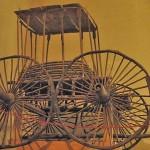 Pazırık 5 numaralı kurgandan çıkartılan bir araba MÖ. 252-238