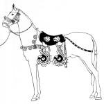 Koşumları ile bir atın görünümü/ Pazırık-Altay, Kurgan 1 MÖ. 305-288
