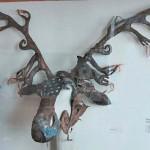 Geyik boynuzu şeklinde at maskesi. / Pazırık-Altay, Kurgan 1 MÖ. 305-288