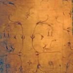 Eyer keçesi için döşeme , işlemeli ipek/ Pazırık-Altay, Kurgan-5 MÖ. 252-238