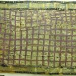 Eyer keçesi kaplaması/ Pazırık-Altay, Kurgan-5 MÖ. 252-238